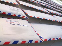 A set of airmail envelopes