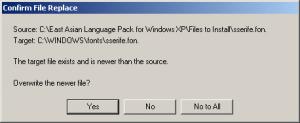files language east Xp asian