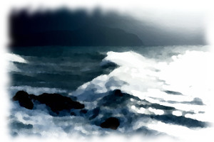'Early morning sea storm' - Fetch_69